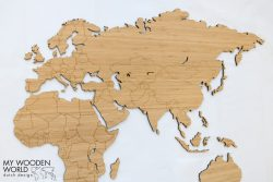 My Wooden world map, wereldkaart bamboe
