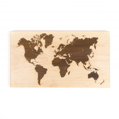 Wooden Amsterdam, world map
